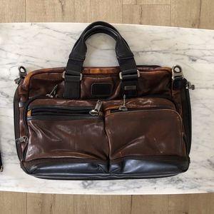 Tumi Alpha Bravo Slim Commuter Briefcase - Leather